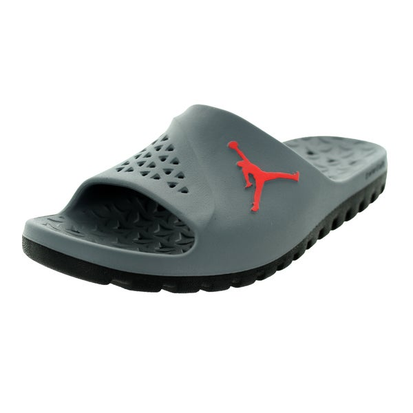 09fc8173bf01 Nike Jordan Men  x27 s Jordan Super.Fly Team Grey Synthetic Leather Slide.  Click to Zoom