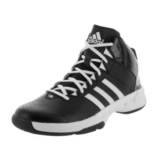Adidas Men's Cross 'Em 3 Black/White Synthetic Leather Basketball Shoe