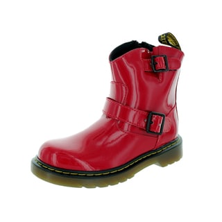 Dr. Martens Kids Red Patent Leather Blip Boot