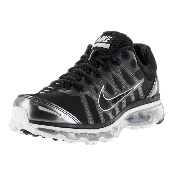sale retailer 73b28 91744 Nike Men  x27 s Air Max 2009 Black Synthetic Leather Running Shoes
