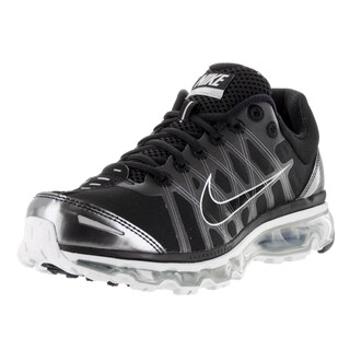 Nike Men's Air Max 2009 Black Synthetic Leather Running Shoes