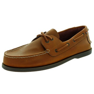 Tommy Hilfiger Men's Bowman Brown Synthetic Leather Loafers Slip-on Shoes