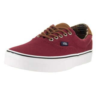 Vans Unisex Era 59 (C&L) Red Textile Skate Shoe