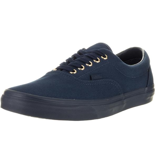 5cce00174ef9c1 Shop Vans Unisex Era (Gold Mono) Blue Canvas Skate Shoes - Free ...