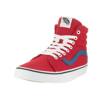Vans Unisex Sk8-Hi Reissue Red Canvas Skate Shoes