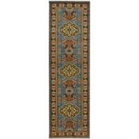 Handmade Herat Oriental Indo Tribal Kazak Wool Runner (India) - 2'8 x 10'