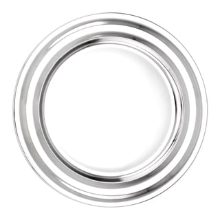 Old Dutch Silvertone Stainless Steel 13-inch Collar Rim Charger Plates (Set of 6)