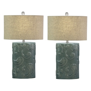 Talia Cerami Table Lamp (Set of 2)