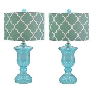 Rochelle Glass Table Lamp (Set of 2)