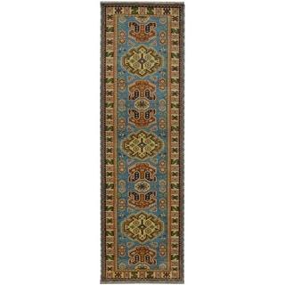 Handmade Kazak Wool Runner (India) - 2'8 x 8'