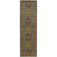 Handmade Herat Oriental Indo Tribal Kazak Wool Runner (India) - 2'8 x 8'