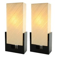 Alicia Black Wood Table Lamp (Set of 2)