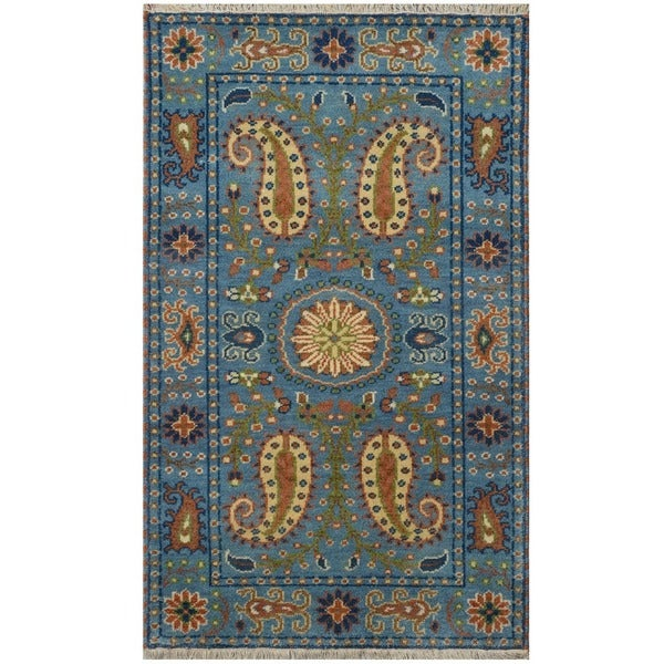 Handmade Kazak Wool Rug (India) - 3' x 5'. Opens flyout.