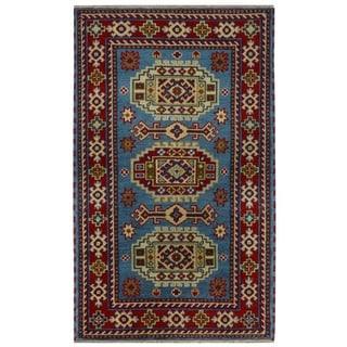 Handmade Kazak Wool Rug (India) - 3' x 5'