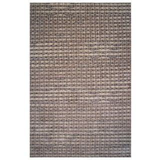 Aquarelle Collection Gray and Brown Area Rug, 8 ft. x 11 ft.