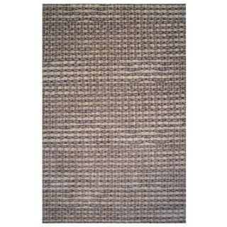 Aquarelle Collection Gray and Brown Area Rug, 5 ft. x 8 ft.