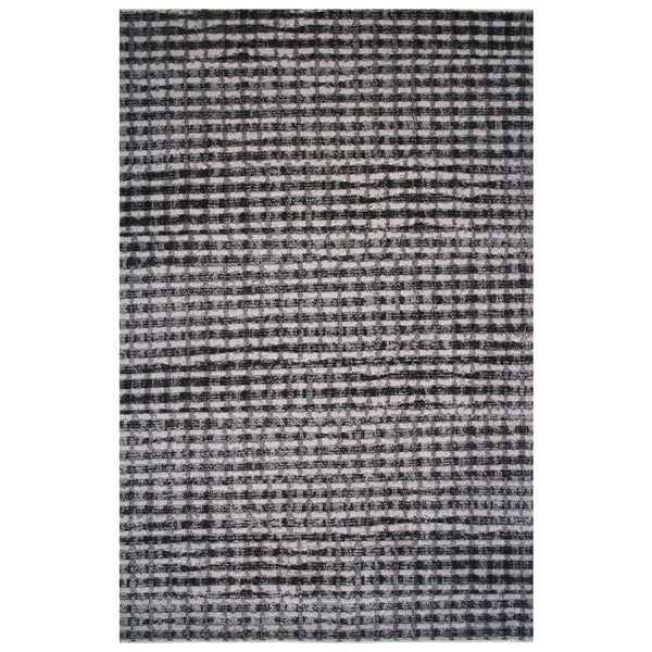 Checked Black Grey Rug: Shop Aquarelle Collection Black And Grey Modern Checker