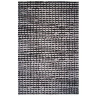 Aquarelle Collection Black and Gray Modern Checker Area Rug, 5 ft. x 8 ft.