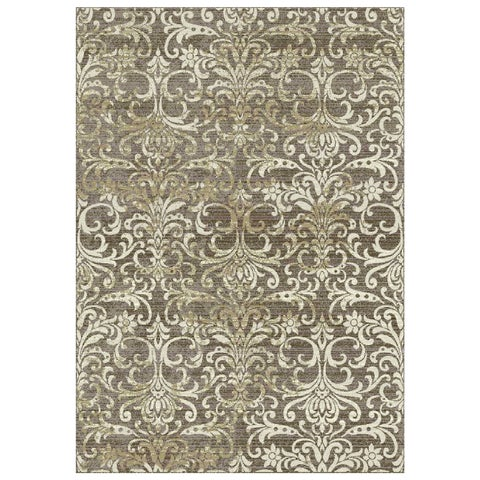 Granada Collection Beige Ornamental Pattern Area Rug