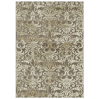 Granada Collection Beige Ornamental Pattern Area Rug 5'x8'