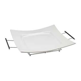 Piazza White Porcelain Serving Tray