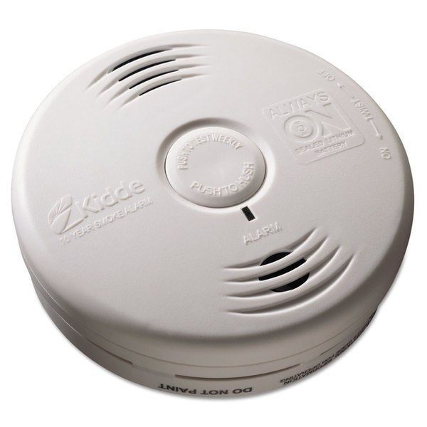 Kidde Bedroom Smoke Alarm with Voice Alarm Lithium Battery 5.22 inchesDia x 1.6 inchesDepth