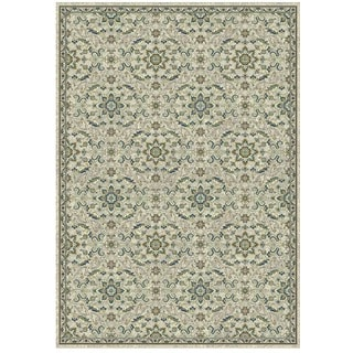 Granada Collection Blue and Green Ornamental Pattern Area Rug 8'x11'