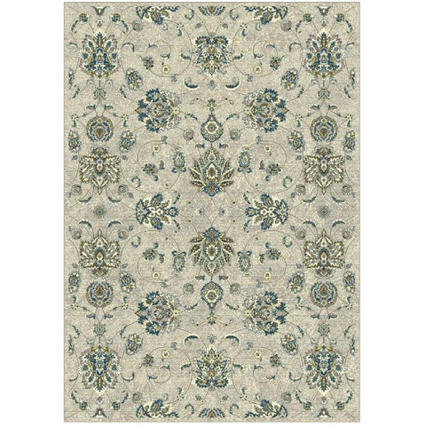 Granada Collection Turqouise Floral Pattern Area Rug - 8' x 11'