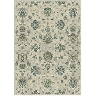 Granada Collection Turqouise Floral Pattern Area Rug 8'x11'