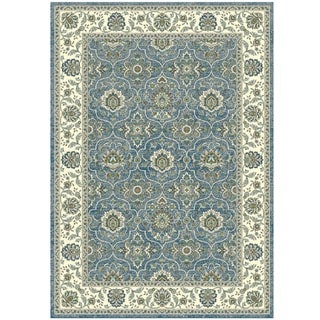Granada Collection Turqouise Oriental Pattern Area Rug 8'x11'