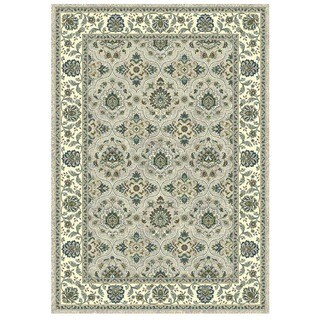 Granada Collection Turqouise Scroll Pattern Area Rug 8'x11'