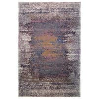 Hermes Collection Purple Multicolor Rug (5'3 x 7'6)