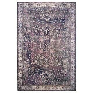 Hermes Collection Purple Oriental Rug (5'3 x 7'6)