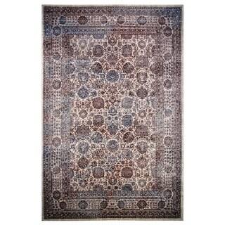 Hermes Collection Burgundy Oriental Rug (5'3 x 7'6)