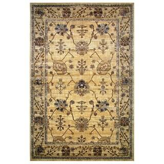 Leonardo Collection Golden Oriental Rug (5'3 x 7'6)