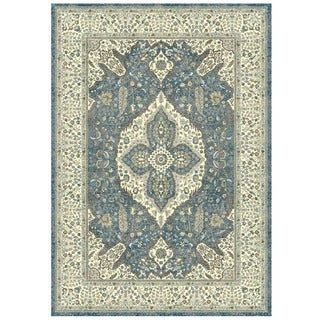 Granada Collection Ornamental Floral Medallion Print Area Rug 8'x11'