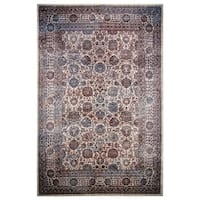 Hermes Collection Burgundy Oriental Rug, - 8' x 11'