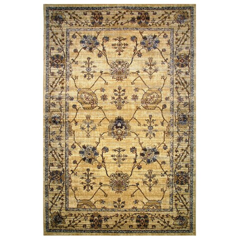 Leonardo Collection Golden Oriental Rug,