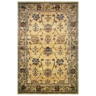 Leonardo Collection Golden Oriental Rug, 8 ft. x 11 ft.