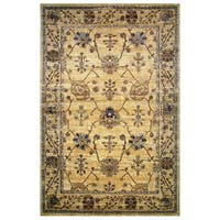 Leonardo Collection Golden Oriental Rug, - 8' x 11'
