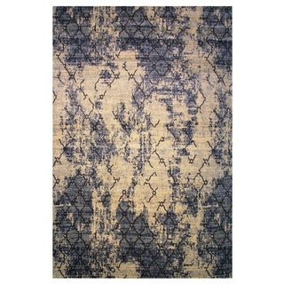 Leonardo Collection Blue Trellis Rug, 8 ft. x 11 ft