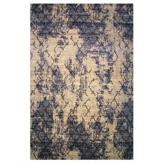 Leonardo Collection Blue Trellis Rug, 8 ft. x 11 ft