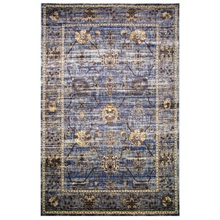 Leonardo Collection Violet Blue Oriental Rug, 8 ft. x 11 ft.