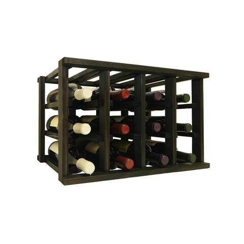 Wine Cellar Innovations Mini-Stack Series Midnight Black Satin Stackable 12-bottle Wine Rack