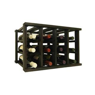 Wine Cellar Innovations Mini-Stack Series Midnight Black Satin Stackable 12-bottle Wine Rack