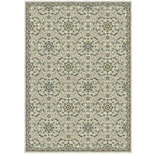 Granada Collection Blue and Green Ornamental Pattern Area Rug 5'x8'