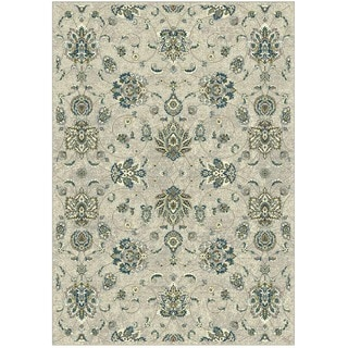 Granada Collection Turqouise Floral Pattern Area Rug 5'x8'