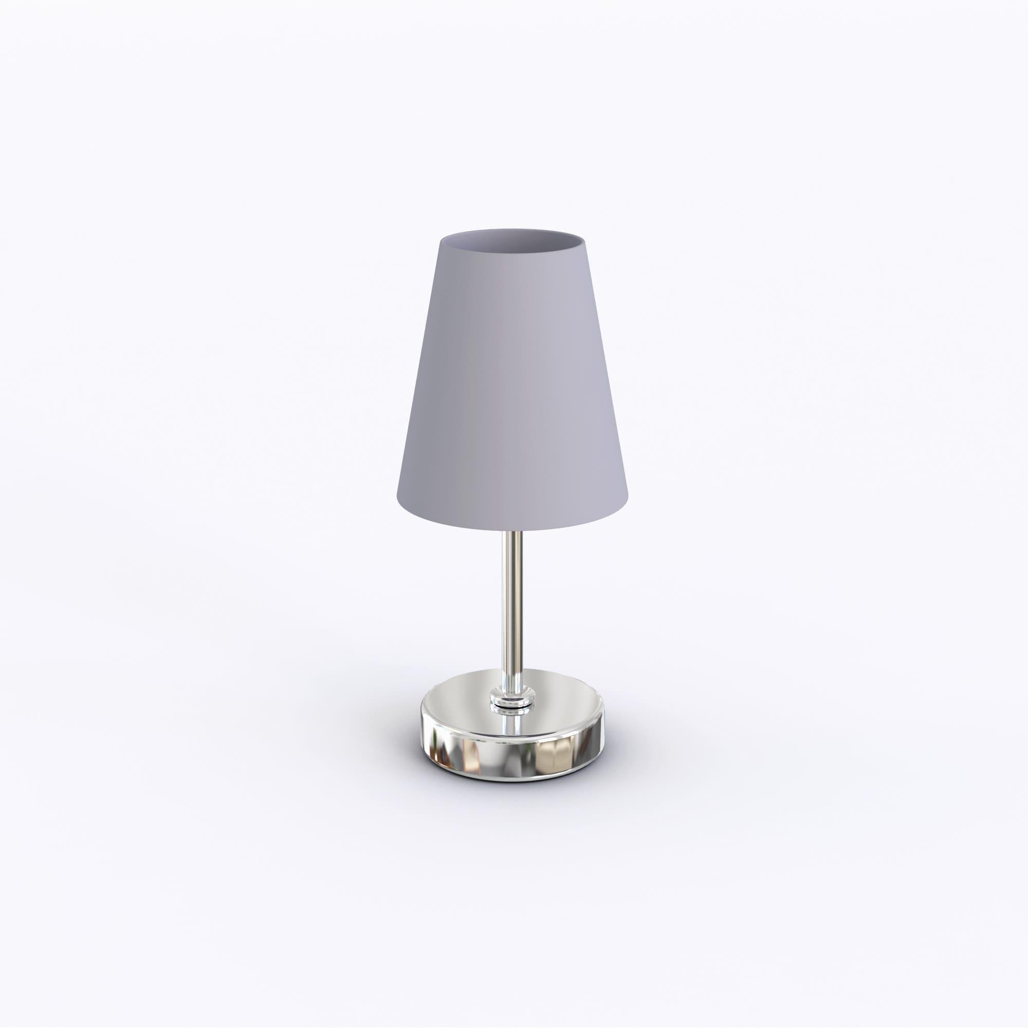 thumbnail 8 - Porch-amp-Den-Custer-Sand-Nickel-Fabric-Shade-Mini-Table-Lamp