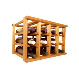Wine Cellar Innovations Mini-stack Series Brown wood Stackable 12-bottle Rack