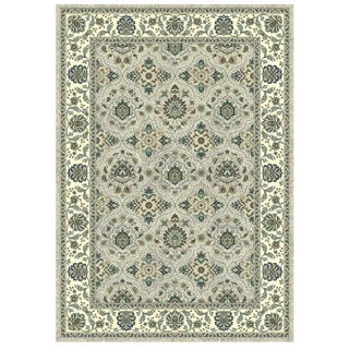 Granada Collection Turqouise Scroll Pattern Area Rug 5'x8